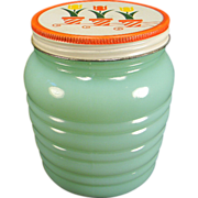 Fire King Jadite Grease Jar with Tulip Lid