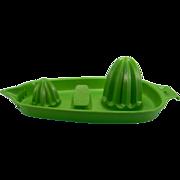 Vintage 1970 Green Plastic Hutzler Reamer Tray