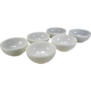 Six Fire King Anchorwhite Chili Bowls