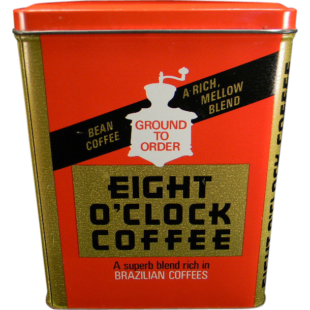 Vintage Eight O'Clock Coffee Tin