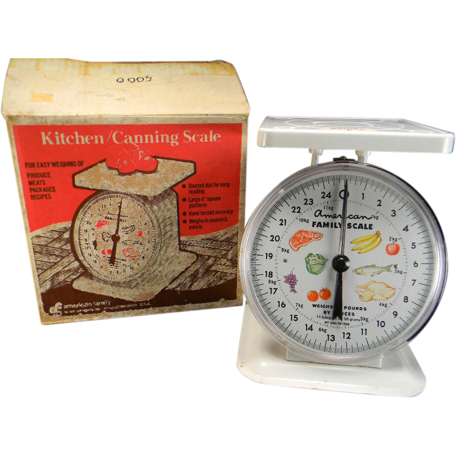 Vintage 1960's American Family Kitchen/Canning Scale in its Original Box