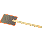 Vintage Red Trimmed Fly Swatter with Advertising