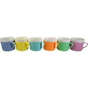 Six Colorful Bolero Therm-O-Ware Cups