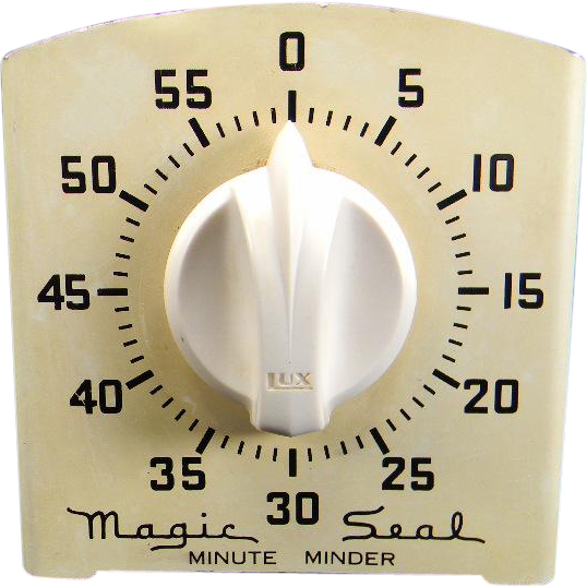 Vintage Cream White Magic Seal Minute Minder Kitchen Timer from