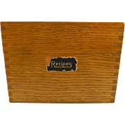 Vintage Wooden Recipe Box with Recipes