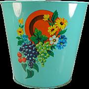 Vintage Chein Co. Decorative Wastebasket