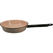 Vintage Pink Enamel Frying Pan