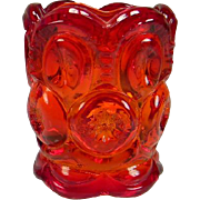 Vintage Amberina Moon & Stars Toothpick Holder