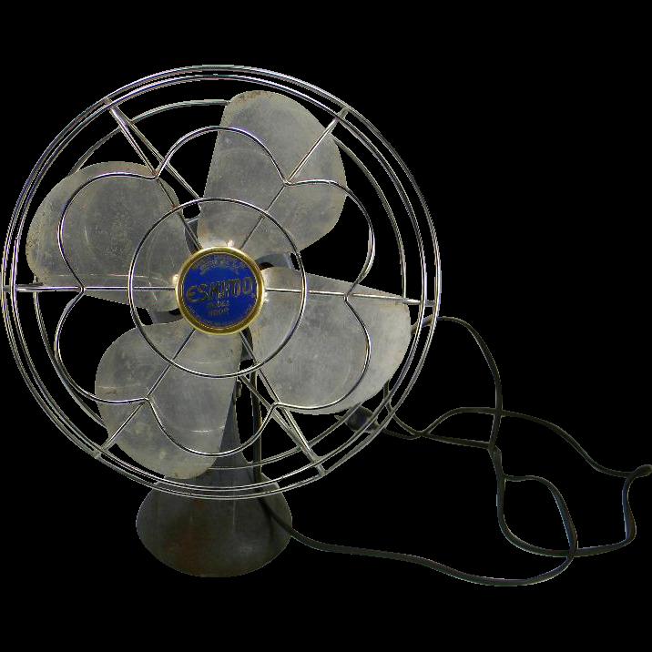 Vintage 1950's Electric Eskimo Table Fan Model 1100R