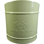 Vintage Jade Green Foley Sifter
