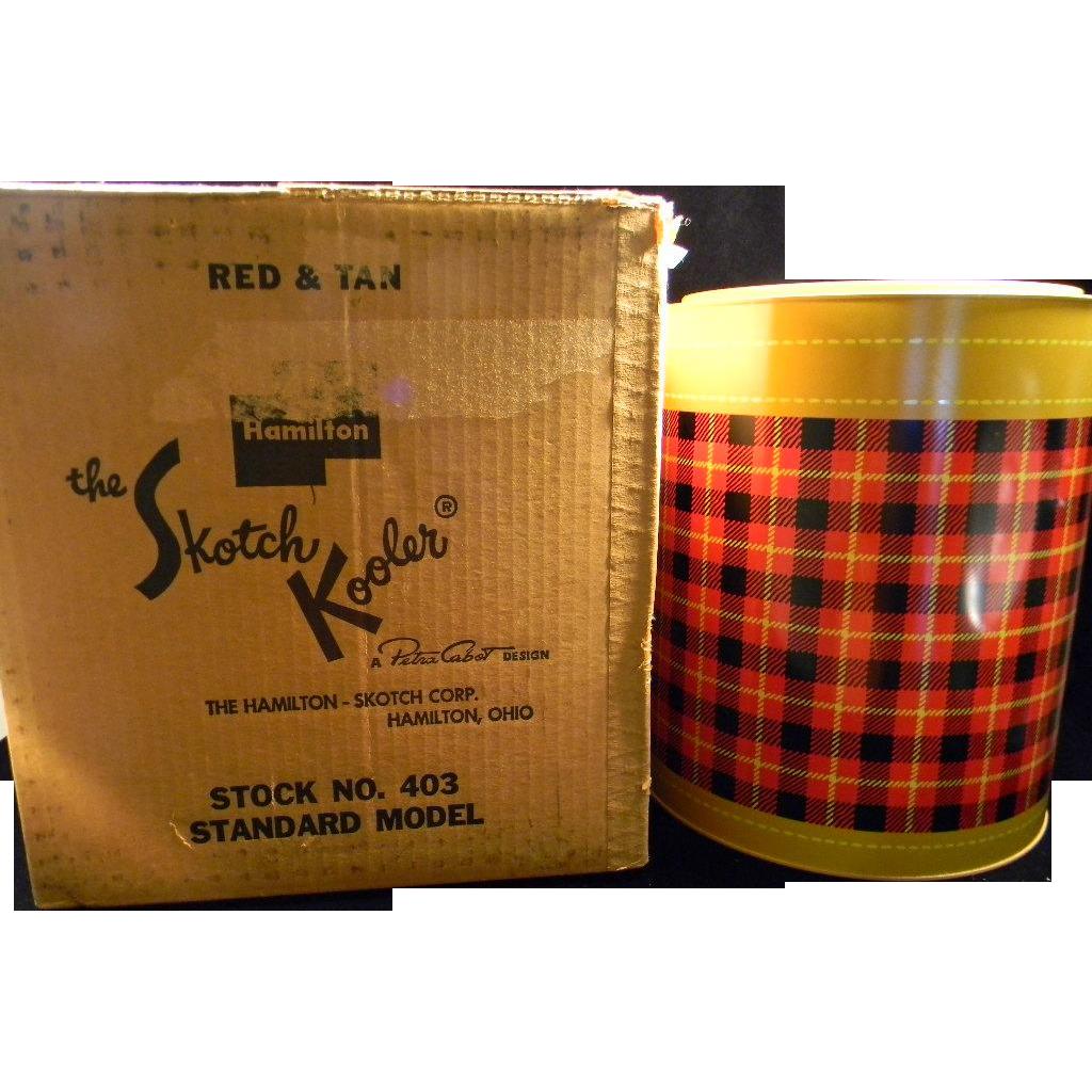 Vintage 1950's Plaid Skotch Kooler in Original Box with Original Use & Care Booklet