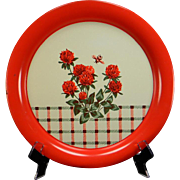 Vintage Floral & Plaid Serving Tray