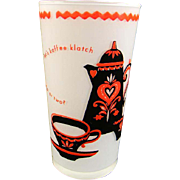Vintage 1950's Kaffee Klatch Tumbler