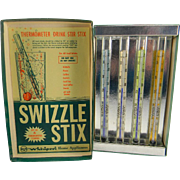 Vintage 1940's - 1950's RCA Whirlpool Home Appliances Thermometer Swizzle Stix in Original Box