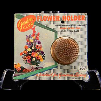 Vintage Garden Club Flower Holder in Original Packaging