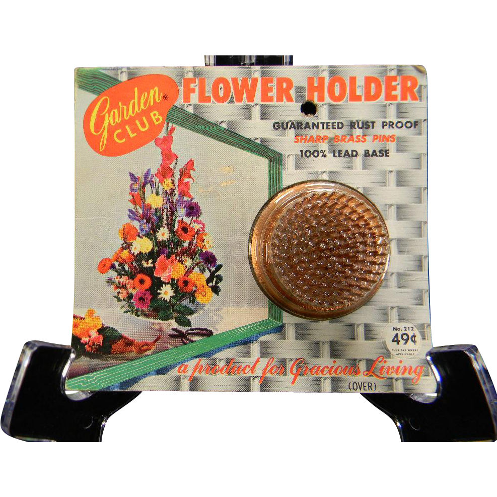 Vintage Garden Club Flower Holder in Original Packaging