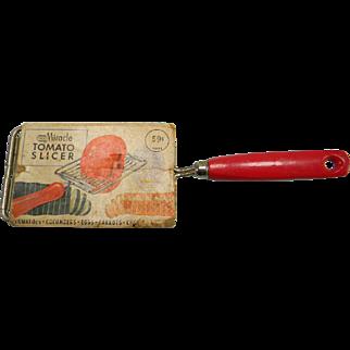 Vintage 1959 EKCO Miracle Tomato Slicer in Original Packaging