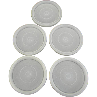 Five Vintage Tupperware Tumbler Seals
