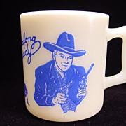 Blue Hopalong Cassidy Mug by Hazel Atlas