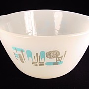 Fire King Blue Heaven 1 1/2 Qt. Mixing Bowl