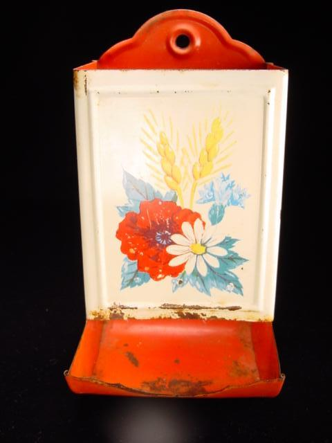 Vintage Match Safe with Floral & Wheat Motif