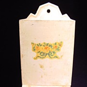 Vintage Match Safe with Floral Motif