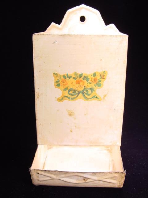 Vintage Match Safe with Floral Motif