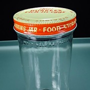 Vintage Glass Refrigerator Jar