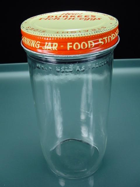 Vintage Glass Refrigerator Jar