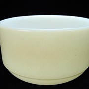 Vintage Fire King Fired-On Cream-Colored Straight-Side Bowl