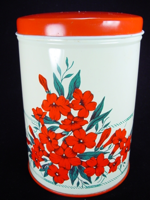 Vintage NC Colorware Canister with Azalea Motif