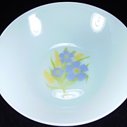 "Fire King ""Forget-Me-Not"" Vegetable Bowl"
