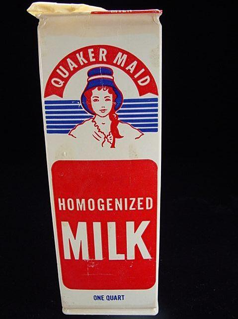 """Vintage One Quart """"Quaker Maid"""" Milk Carton"""