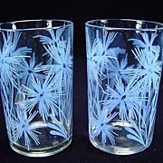 Two 1947 Cornflower #2 Light Blue Swanky Swigs