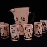 Retro 1950's Pitcher & Six Tumblers