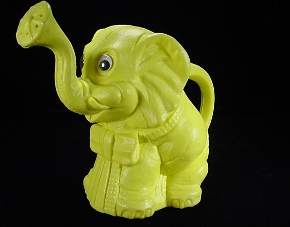 Hard-to-Find Ohio Art Yellow Plastic Elephant Watering Can