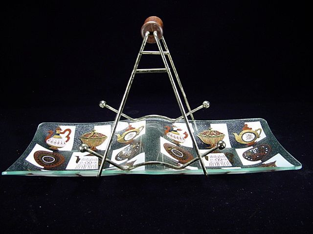 1950's Tidbit/Snack Tray by Inland Glass