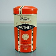 Vintage McNess Pure Ground Nutmeg Tin