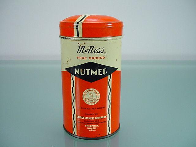 Vintage McNess Pure Ground Nutmeg Tin