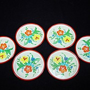 Colorful Vintage Coaster Set
