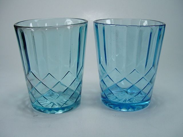 Two 1920's Aunt Polly Tumblers
