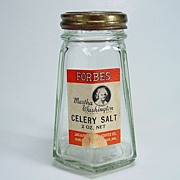 Vintage Forbes Martha Washington Brand Celery Salt Shaker with Original Label