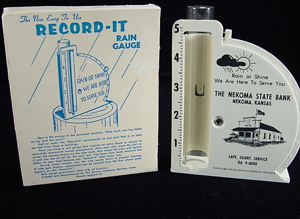 """Record-It"" Rain Gauge in Original Sleeve"