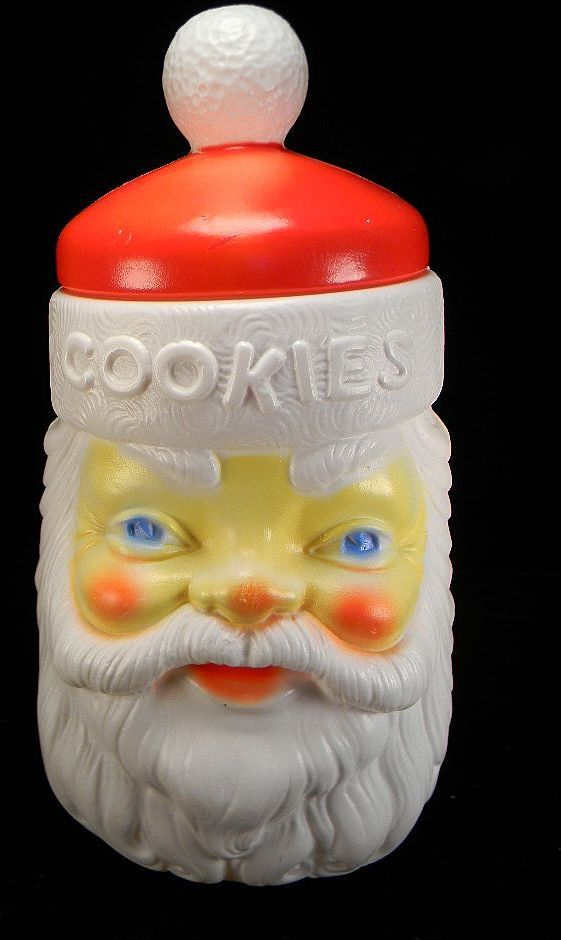 Plastic Santa Claus Cookie Jar by Empire USA