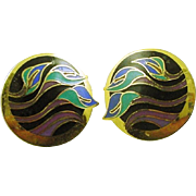 Laurel Burch Vintage Post Earrings Lilies for Les