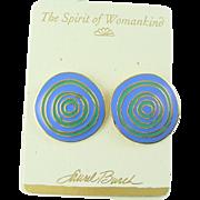 Vintage Laurel Burch Post Earrings Ancient Wisdom