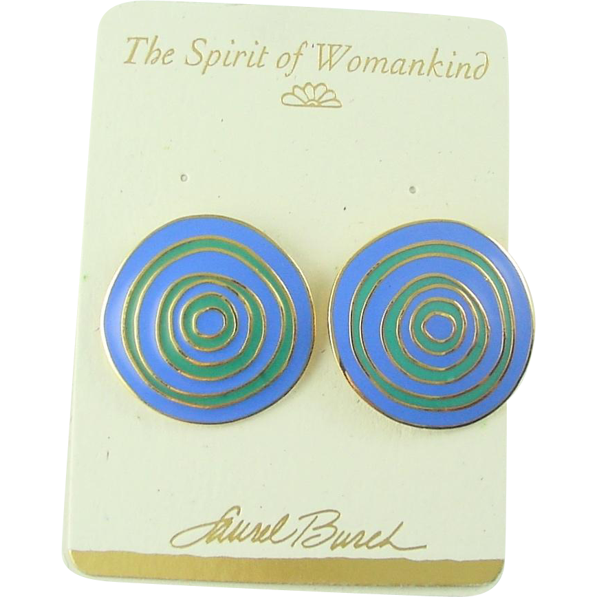 Vintage Laurel Burch Post Earrings Ancient Wisdom