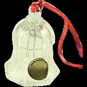 Vintage Goebel Lead Crystal Glass Bell Ornament
