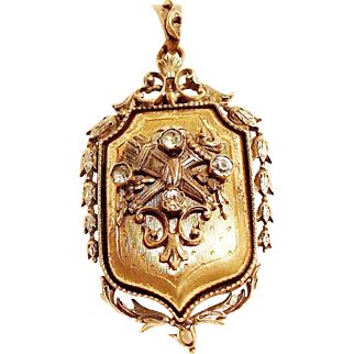 The Triumph of Love Large Victorian Locket!