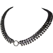 Victorian Sterling Silver Large Bookchain for Locket Stars and Cannonball Edge